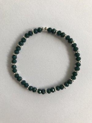 Jägergrünes Perlenarmband