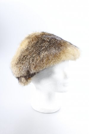 Hunting Hat oatmeal-black brown flecked fluffy