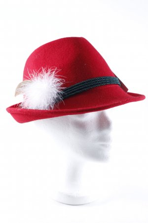 Hunting Hat brick red retro look