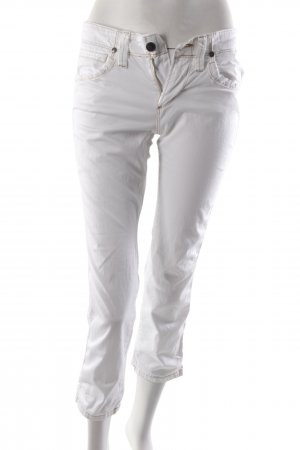 Jaggy trousers white