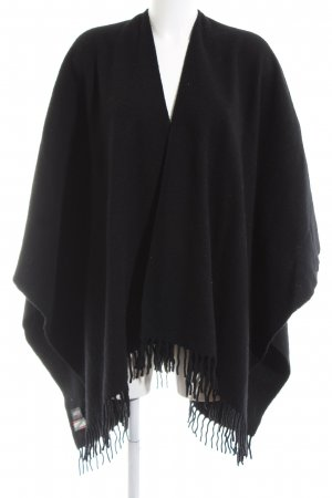 Jago Knitted Poncho black casual look