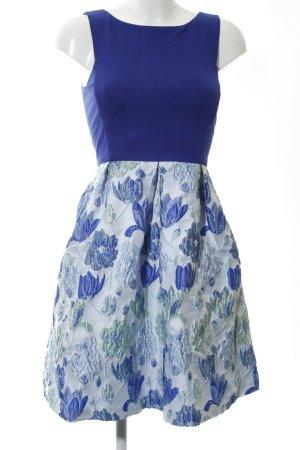Jake*s A-Linien Kleid blau-türkis Blumenmuster Elegant