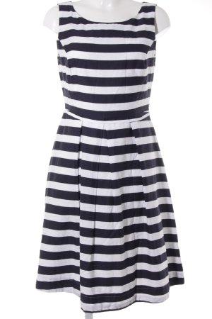 Jake*s A-Linien Kleid weiß-dunkelblau Streifenmuster Elegant
