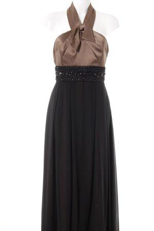 Jake*s Abendkleid hellbraun-schwarz Elegant