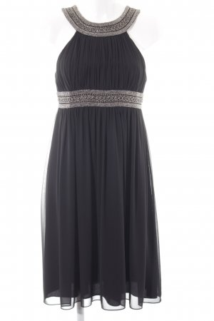 Jake*s Abendkleid schwarz-silberfarben Elegant
