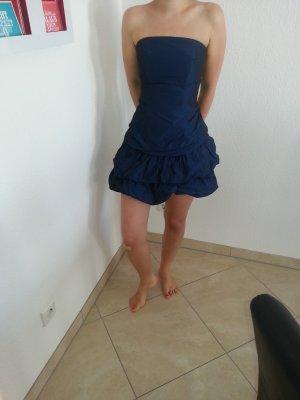 JAKE*S Ballonkleid aus Satin - Marineblau Größe XS