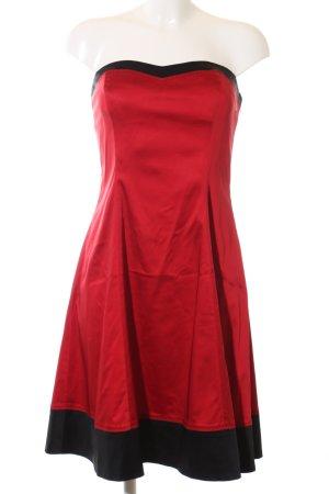 Jake*s Vestido bandeau rojo-negro elegante