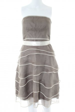 Jake*s Bandeau Dress brown-natural white elegant