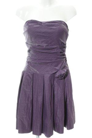 Jake*s Vestido bustier violeta oscuro elegante