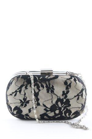 Jake*s Clutch schwarz-creme florales Muster Elegant