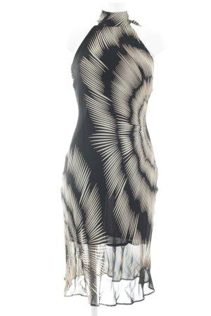 Jake*s Cut-Out-Kleid schwarz-hellbeige abstraktes Muster Elegant