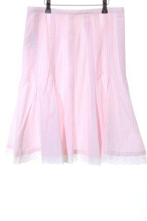 Jake*s Glockenrock pink-weiß Streifenmuster Casual-Look