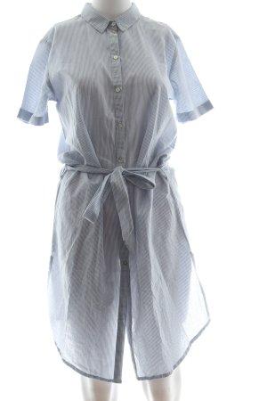 Jake*s Abito blusa camicia blu-bianco motivo a righe stile casual