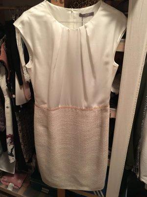 Jake*s Jakes Kleid Etuikleid 38 Perle Silber weiß Boucle beige Collection