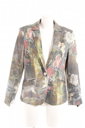 Jake*s Kurz-Blazer Hahnentrittmuster Business-Look