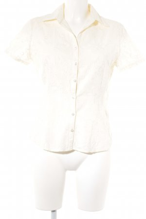 Jake*s Kurzarm-Bluse creme florales Muster Casual-Look