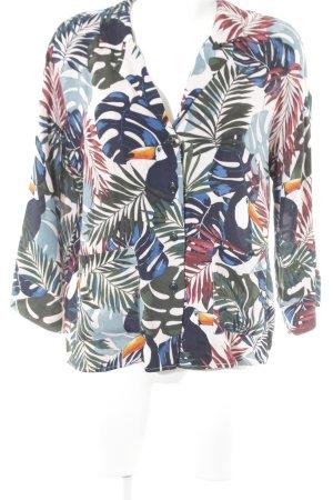 Jake*s Langarm-Bluse abstraktes Muster Casual-Look