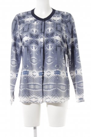 Jake*s Long Sleeve Blouse blue-white abstract pattern casual look