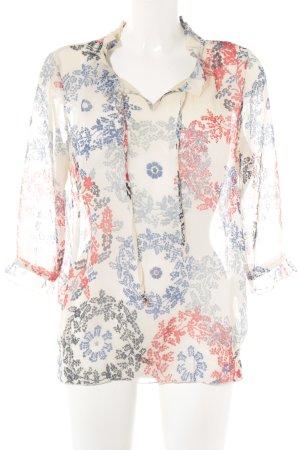 Jake*s Langarm-Bluse florales Muster Romantik-Look