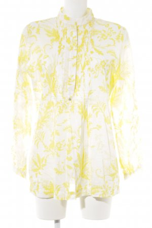Jake*s Long Sleeve Blouse yellow-white floral pattern casual look