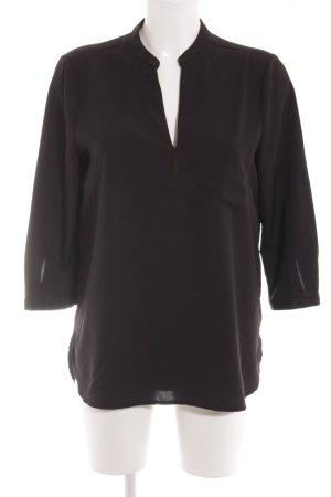 Jake*s Langarm-Bluse schwarz schlichter Stil