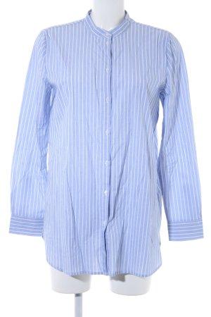 Jake*s Langarmhemd himmelblau-weiß Streifenmuster Casual-Look