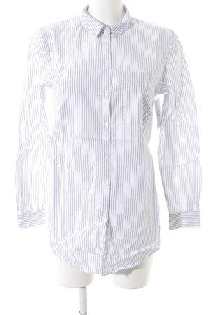 Jake*s Langarmhemd weiß-blau Streifenmuster Casual-Look