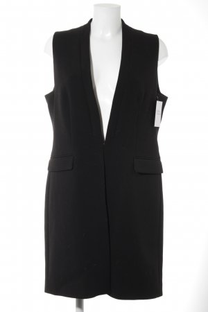 Jake*s Gilet long tricoté noir style d'affaires