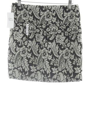 Jake*s Minirock schwarz-weiß florales Muster klassischer Stil