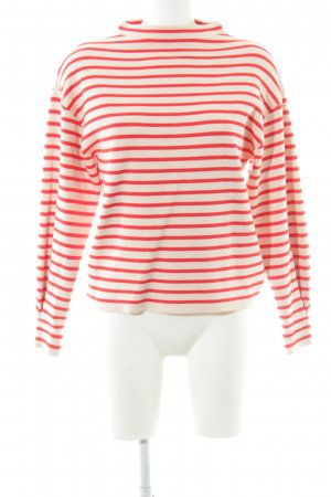 Jake*s Oversized Sweater red-nude striped pattern casual look