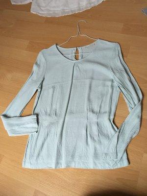 Jake*s P&C Bluse Shirt Peplum Schösschen langärmlig Mint Türkis 36 S