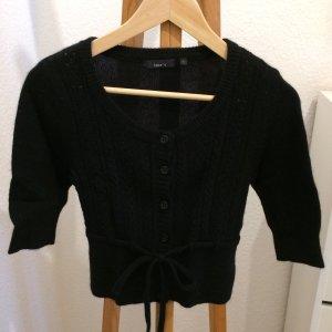 Jake*s P&C kurze Strickjacke (Bolero) Wolle schwarz Größe S