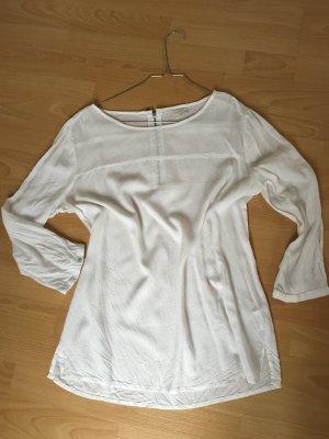 Jake*s P&C weiß Bluse 38 S Shirt Reisverschluss Silber Rücken 3/4-ärmliche