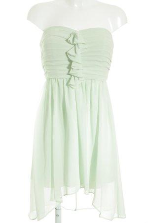 Jake*s schulterfreies Kleid blassgrün Elegant