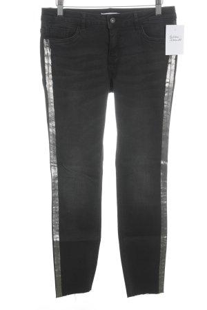 Jake*s Slim Jeans schwarz-roségoldfarben Street-Fashion-Look