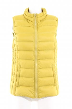 Jake*s Quilted Gilet lime yellow-black casual look