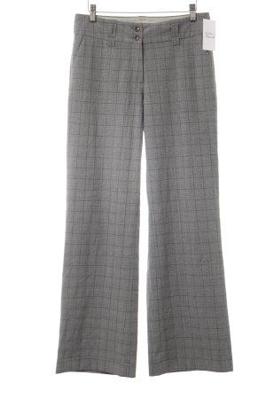 Jake*s Pantalon en jersey gris clair-gris brun motif à carreau
