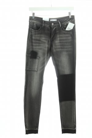 Jake*s Stretch Jeans schwarz-dunkelgrau Street-Fashion-Look