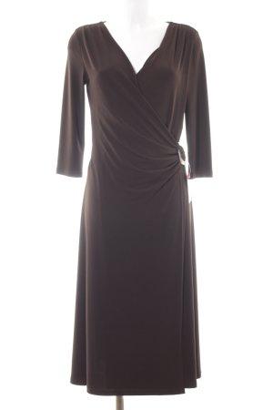 Jake*s Vestido elástico marrón oscuro elegante