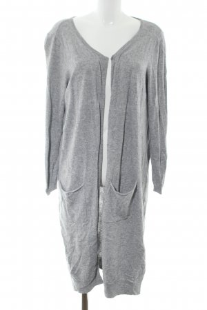 Jake*s Knitted Coat light grey flecked casual look