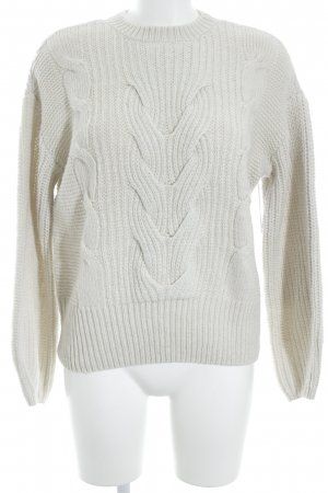 Jake*s Strickpullover hellbeige Zopfmuster Casual-Look