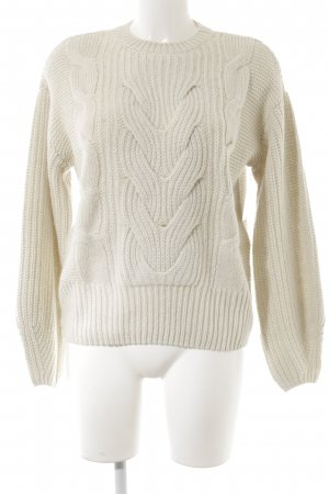 Jake*s Strickpullover wollweiß Casual-Look