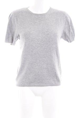 Jake*s Camisa tejida gris claro moteado estilo sencillo