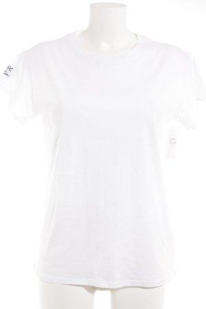 Jake*s T-Shirt Schriftzug gestickt Casual-Look