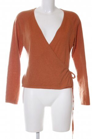 Jake*s Veste cache-coeur orange clair style d'affaires