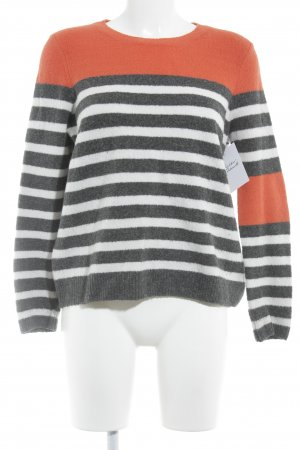 Jake*s Wollpullover Streifenmuster Casual-Look