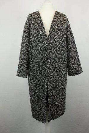 Jakes Mantel Coat Wollmantel Gr. 38 schwarz grau