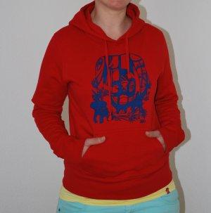 James Nicholson Kapuzensweater, rot mit Druck