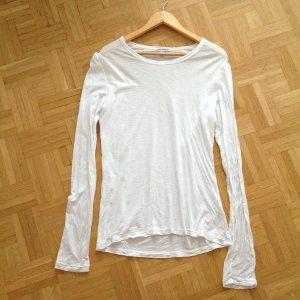 James Perse Langarm Longshirt Baumwolle Weiß Shirt Vince S M 36 38 40