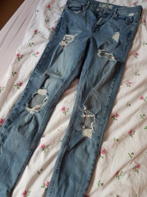 JAMIE High-Waisted-Jeans mit Löchern